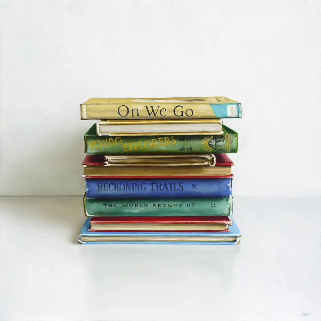books oil painting