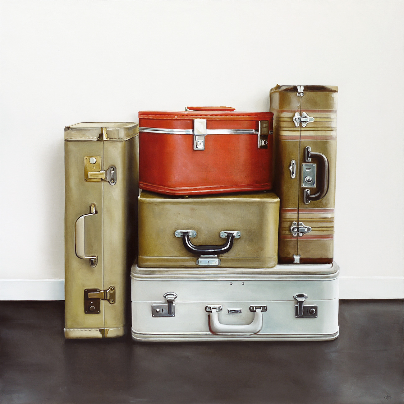 Baggage IX / 30 x 30 / Oil on Canvas