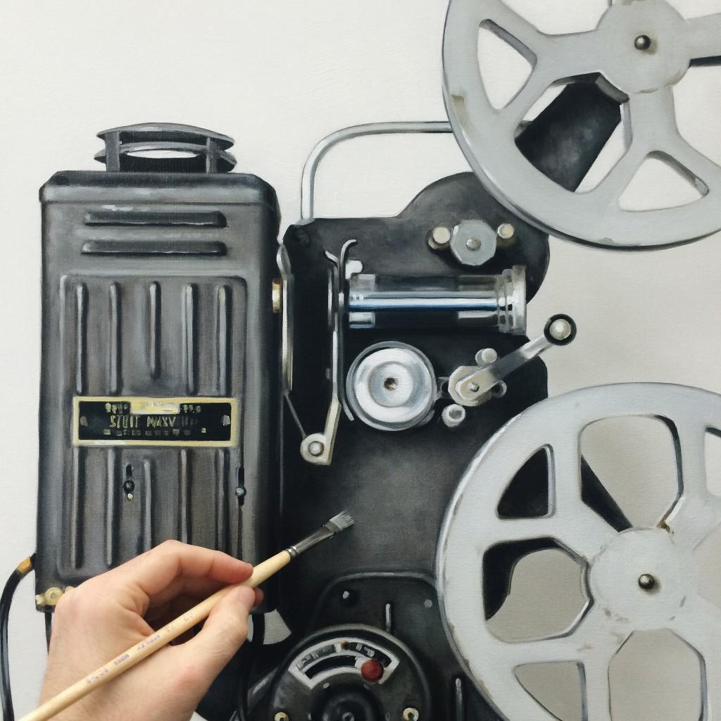 Work in progress — vintage film projector.