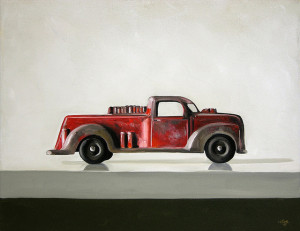 Vintage Toy Fire Truck Painting by Christopher Stott