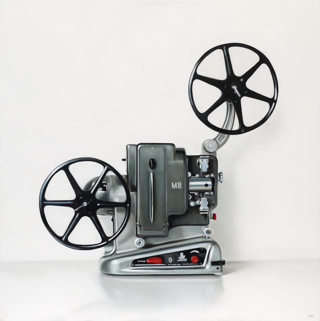 projector movie stott christopher film projectors canvas oil movies still paintings artists
