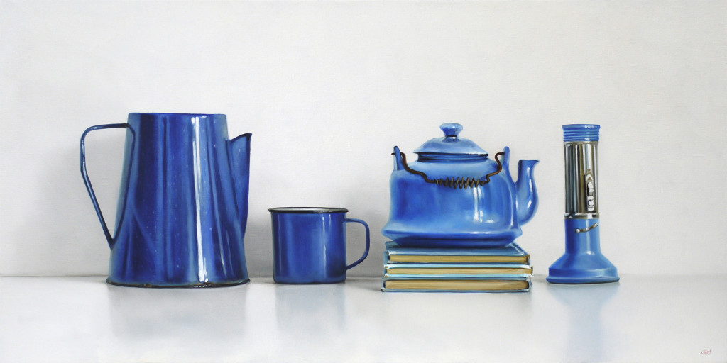 Blue Objects Oil Painting by Christopher Stott