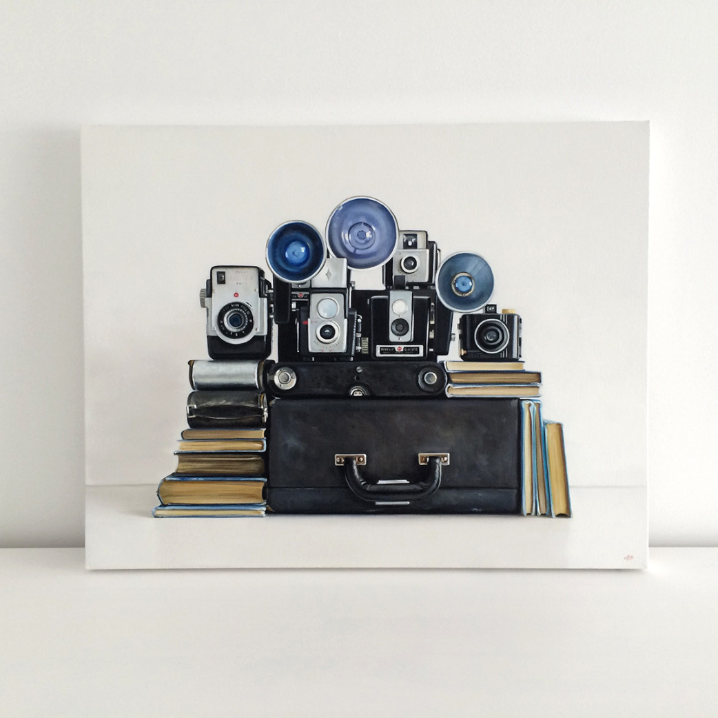 Vintage Kodak Camera Painting by Christopher Stott