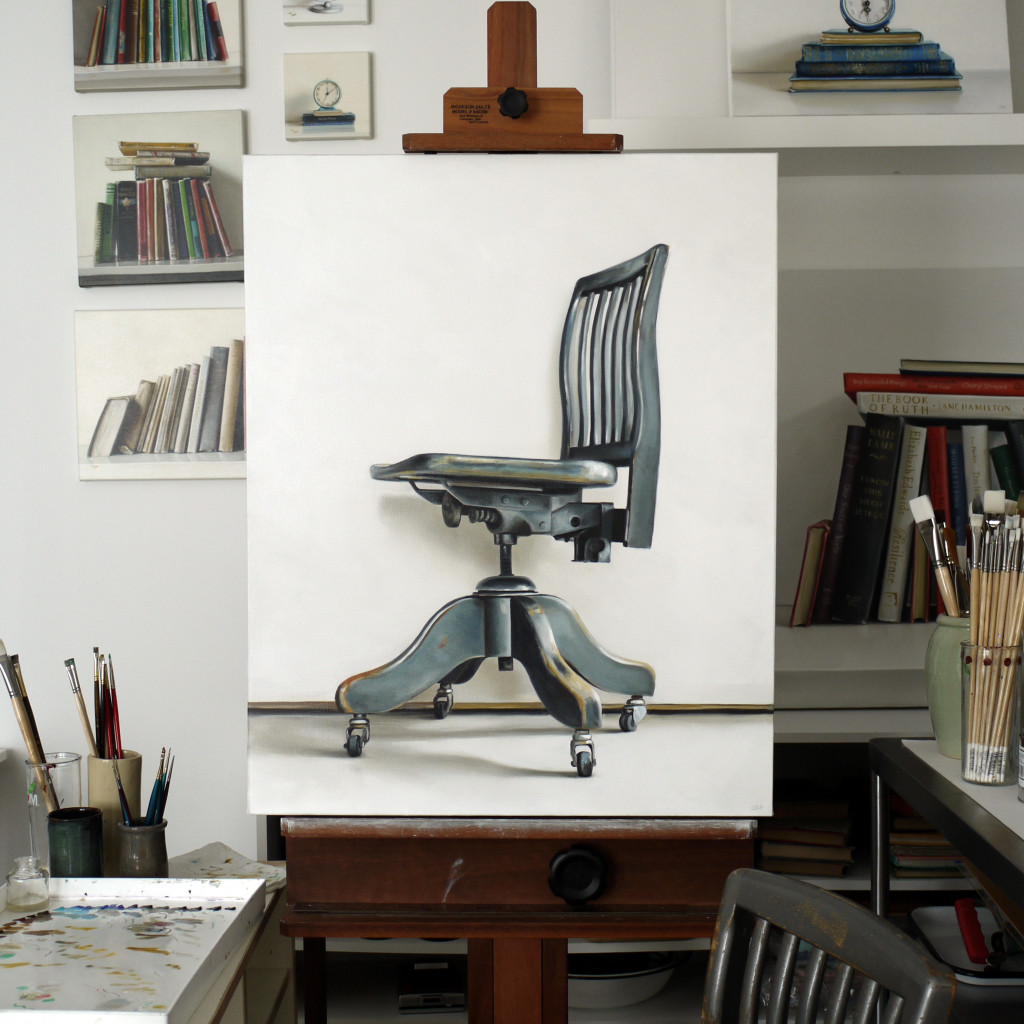 Christopher Stott chair painting, Augst 2015