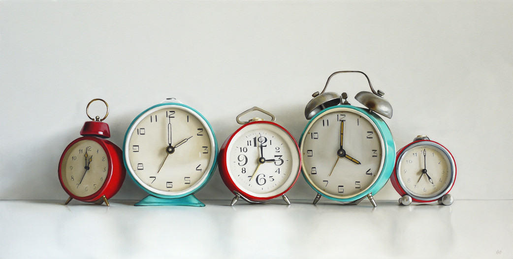 Five Vintage Alarm Clocks by Christopher Stott
