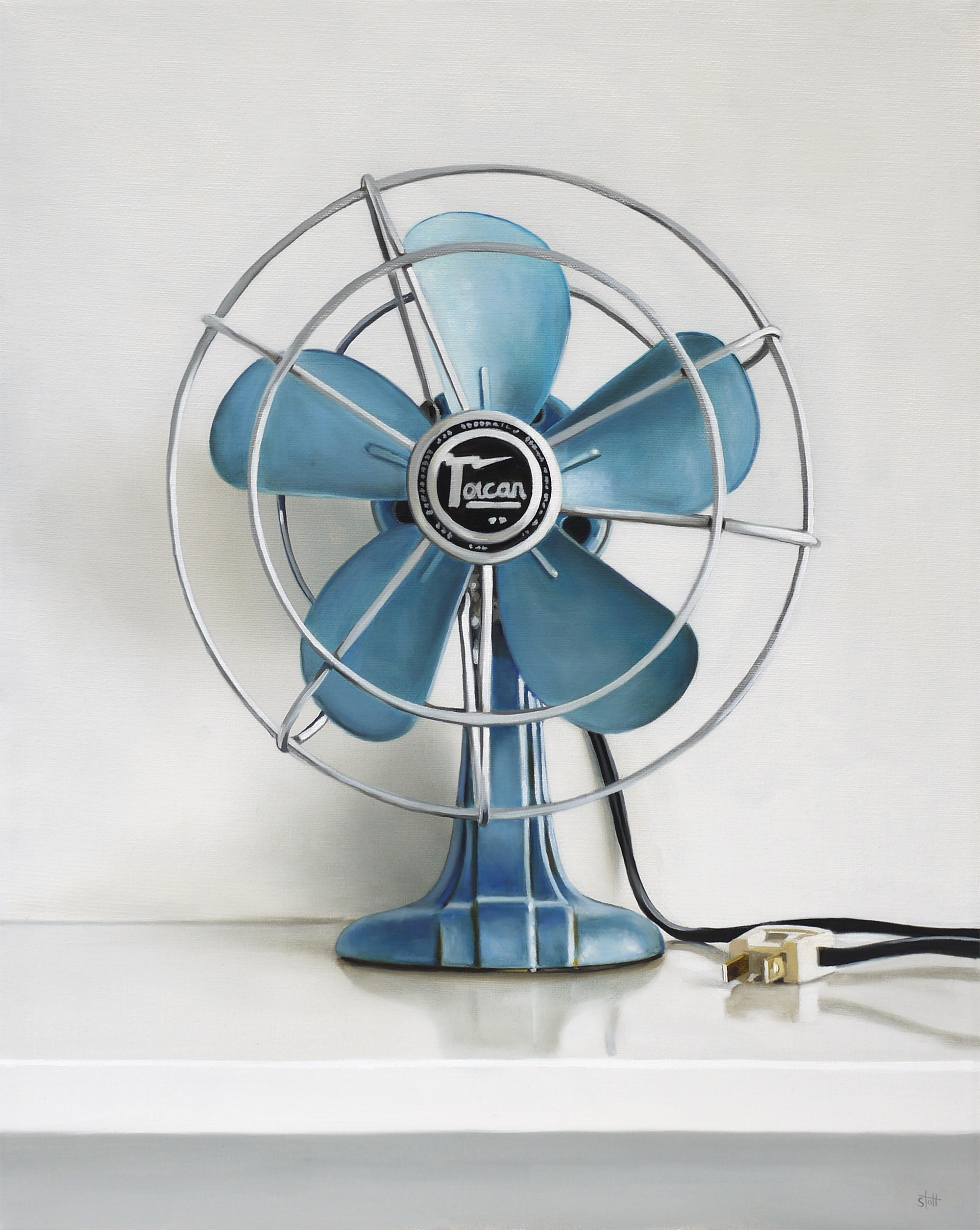 Vintage Toucan Electric Fan by Christopher Stott