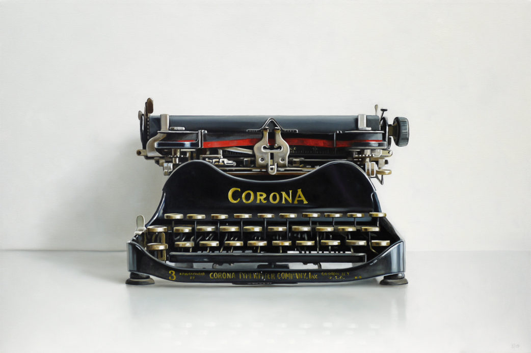 Corona No.3 Typewriter Oil Painting by Christopher Stott