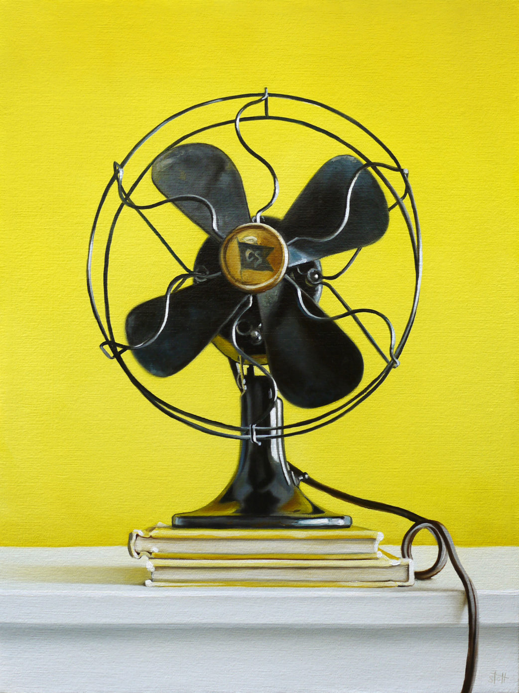 Primary Fan - Yellow by Christopher Stott
