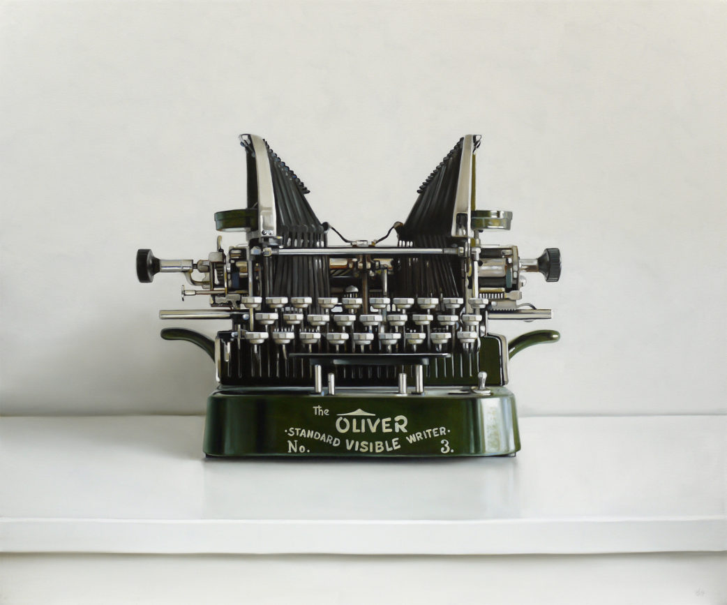 Oliver No.3 Typewriter Painting by Christopher Stott