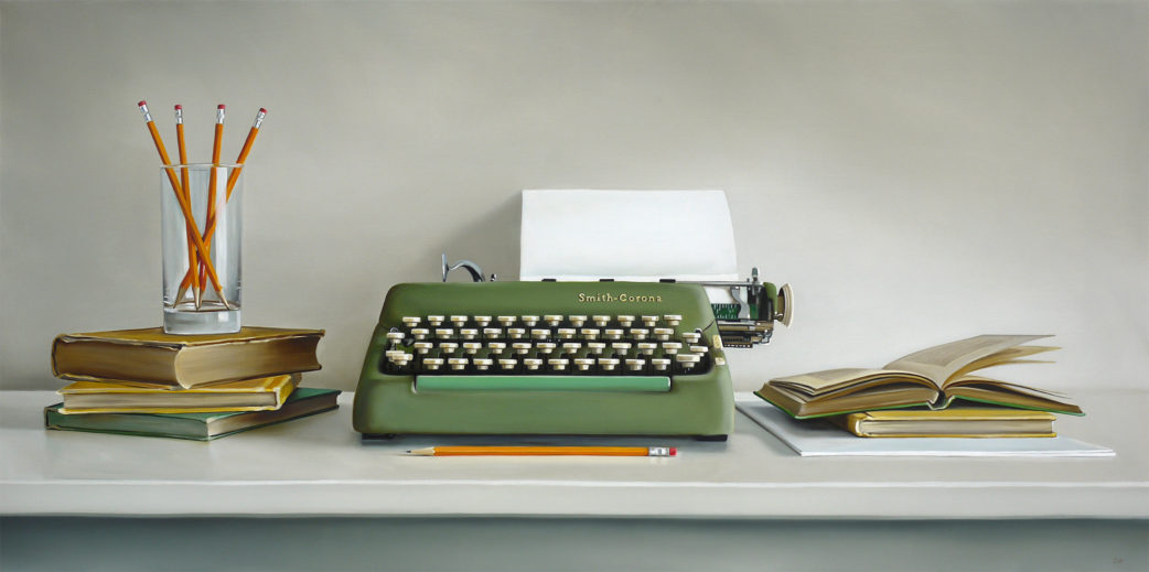 Smith-Corona Typewriter Painting by Christopher Stott
