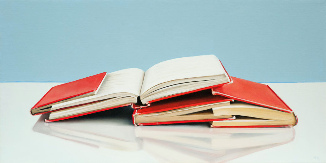 Red Books, Study Painting by Christopher Stott