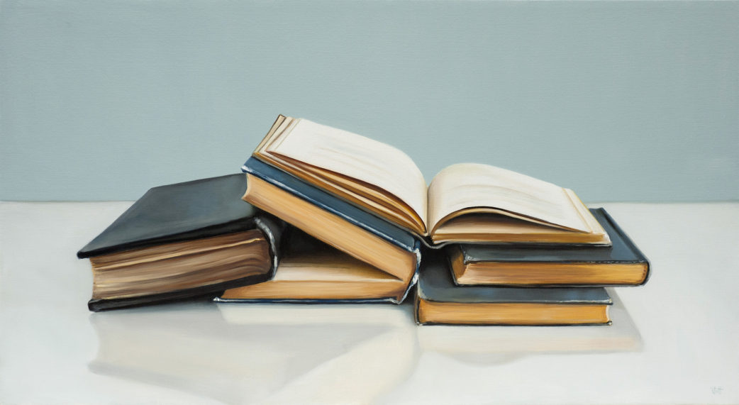 Black Books, Study Painting by Christopher Stott