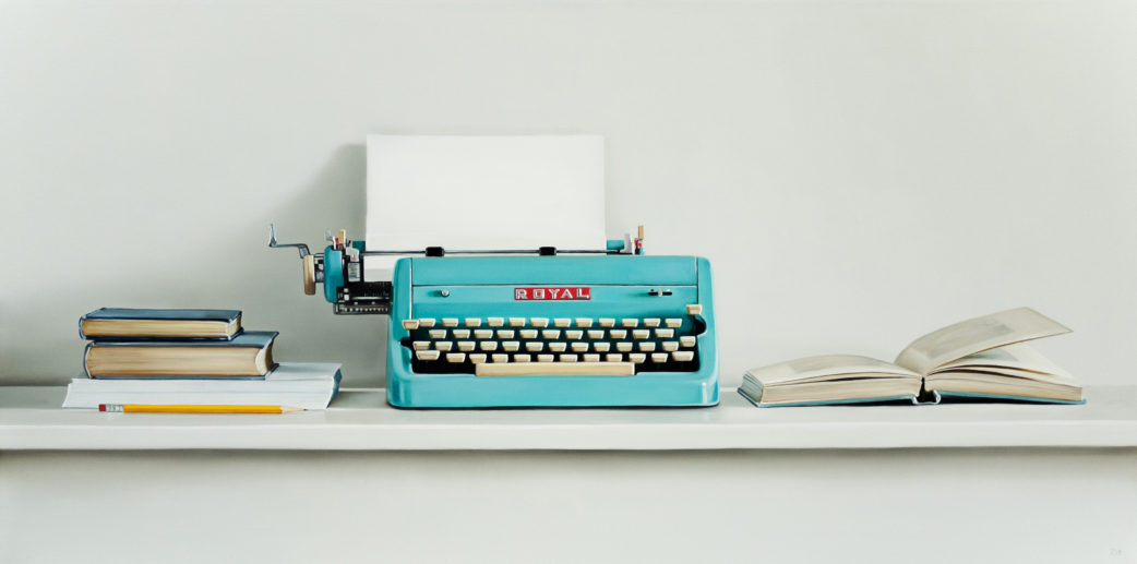 Royal Typewriter Painting by Christopher Stott